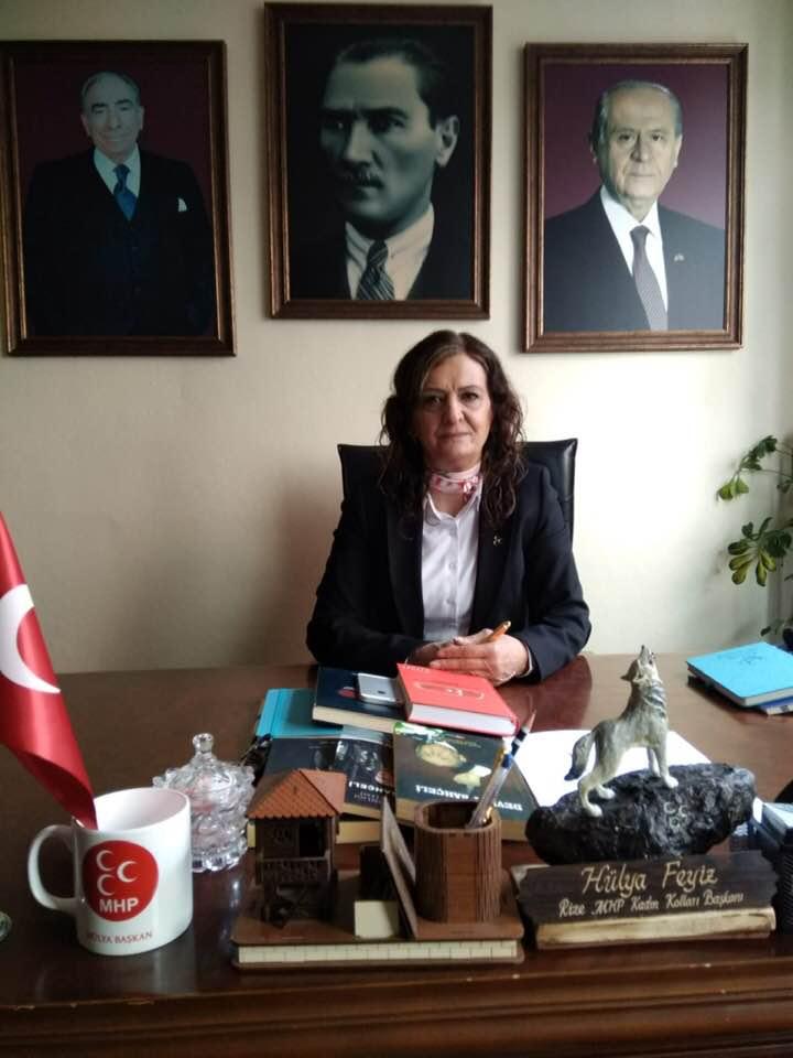 MHP Rize Kadın Kolları Başkanı Hülya Çiçek FEYİZ 8 Mart Dünya Kadınlar Gününü Kutladı
