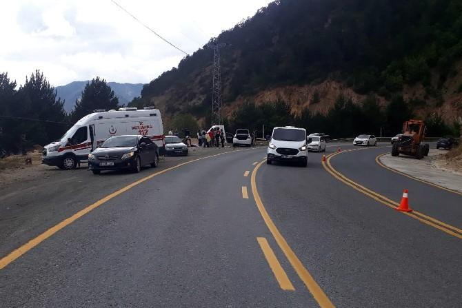 Rize Plakalı Aracın da Dahil Olduğu Trafik Kazasında 9 Yaralı
