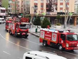 İtfaiye Haftası Dolayısıyla Rize'de Şehir Turu Atıldı